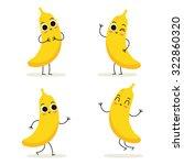banana. cute fruit vector... | Shutterstock .eps vector #322860320