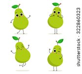 pear. cute fruit vector... | Shutterstock .eps vector #322860323