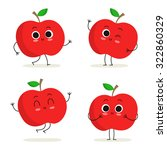 apple. cute fruit vector... | Shutterstock .eps vector #322860329