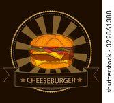 colorful hand drawn burger for... | Shutterstock .eps vector #322861388