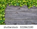 wooden background with fresh... | Shutterstock . vector #322862180