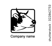 logo with head of a  bull    Shutterstock .eps vector #322862753