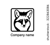 logo with head of a fox   Shutterstock .eps vector #322863086