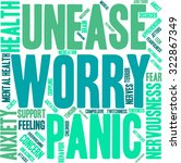 worry word cloud on a white... | Shutterstock .eps vector #322867349