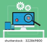 software testing all devices... | Shutterstock .eps vector #322869800