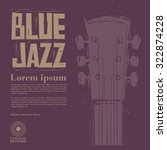 blue jazz vector | Shutterstock .eps vector #322874228
