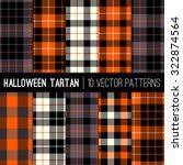 Halloween Tartan Plaid Pattern...