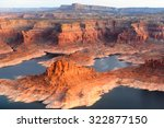 grand canyon from the plane ... | Shutterstock . vector #322877150