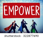 empower authority permission... | Shutterstock . vector #322877690