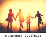 friendship freedom beach summer ... | Shutterstock . vector #322878116