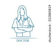 medical woman doctor icon | Shutterstock .eps vector #322883819