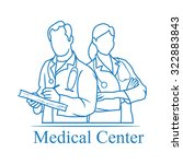 medical center icon | Shutterstock .eps vector #322883843