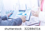 business people discussing the... | Shutterstock . vector #322886516