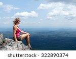 young girl having rest on the... | Shutterstock . vector #322890374