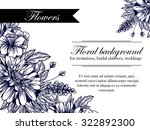 invitation with floral... | Shutterstock .eps vector #322892300