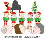 children showing a chorus in... | Shutterstock .eps vector #322896254