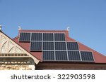 solar panels on australian home ... | Shutterstock . vector #322903598