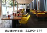 empty tables at outdoor... | Shutterstock . vector #322904879
