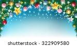 christmas fir tree background   Shutterstock .eps vector #322909580