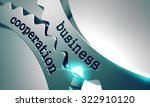business cooperation on the... | Shutterstock . vector #322910120