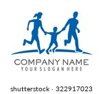 blue running family together... | Shutterstock .eps vector #322917023