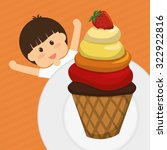 dessert concept  about sweet...   Shutterstock .eps vector #322922816
