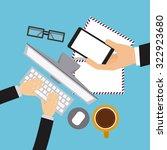 delivery service design  vector ... | Shutterstock .eps vector #322923680