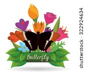 butterfly insect and natural... | Shutterstock .eps vector #322924634