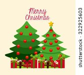 happy merry christmas design ... | Shutterstock .eps vector #322925603