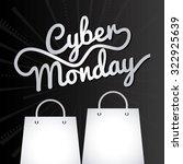 cyber monday design  vector...   Shutterstock .eps vector #322925639