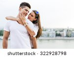 young and beautiful couple in