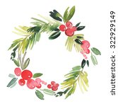 Christmas Wreath Watercolor....