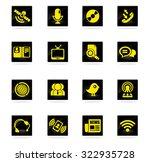 communication icons | Shutterstock .eps vector #322935728