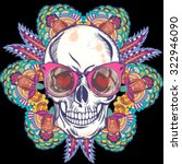 vector illustration of skull... | Shutterstock .eps vector #322946090