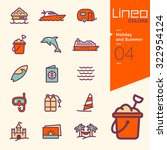 lineo colors   holiday and... | Shutterstock .eps vector #322954124