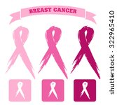 breast cancer icons | Shutterstock .eps vector #322965410