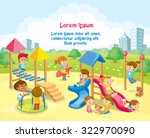 children playing in the... | Shutterstock .eps vector #322970090