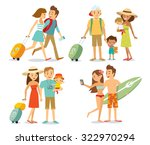 family on vacation | Shutterstock .eps vector #322970294
