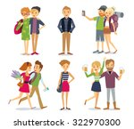 style people and couples | Shutterstock .eps vector #322970300