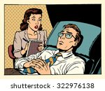 psychologist female patient... | Shutterstock .eps vector #322976138