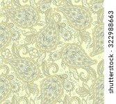 paisley flowers seamless... | Shutterstock .eps vector #322988663