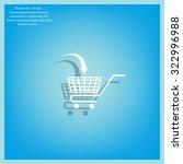 shopping cart icon | Shutterstock .eps vector #322996988