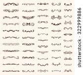 set of vintage sketch elements. ... | Shutterstock .eps vector #322999886