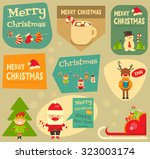 christmas characters on... | Shutterstock .eps vector #323003174