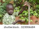water scarcity symbol in africa ... | Shutterstock . vector #323006684