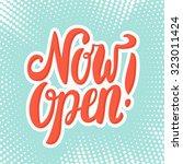 now open sign.  | Shutterstock .eps vector #323011424