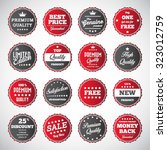 vintage badges   labels set | Shutterstock .eps vector #323012759