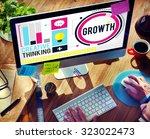 growth improvement development... | Shutterstock . vector #323022473