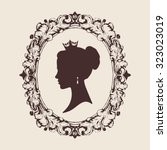 vector profile silhouette of a... | Shutterstock .eps vector #323023019