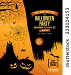 halloween party. poster | Shutterstock .eps vector #323024153
